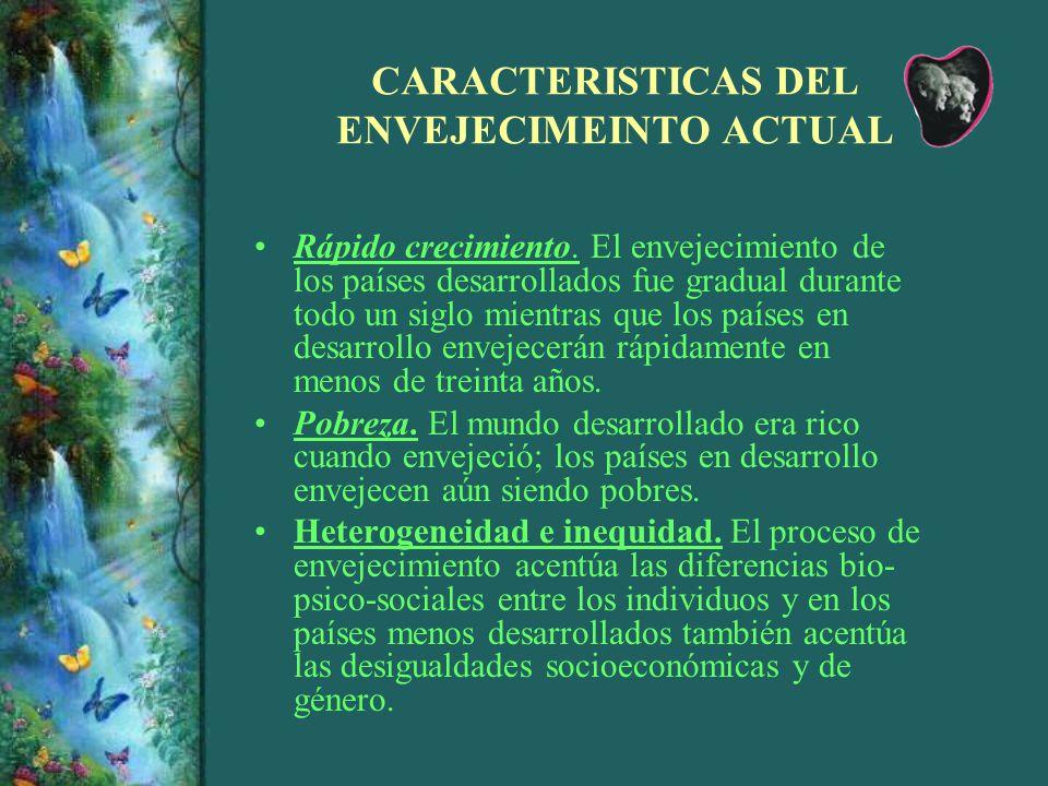 CARACTERISTICAS DEL ENVEJECIMEINTO ACTUAL
