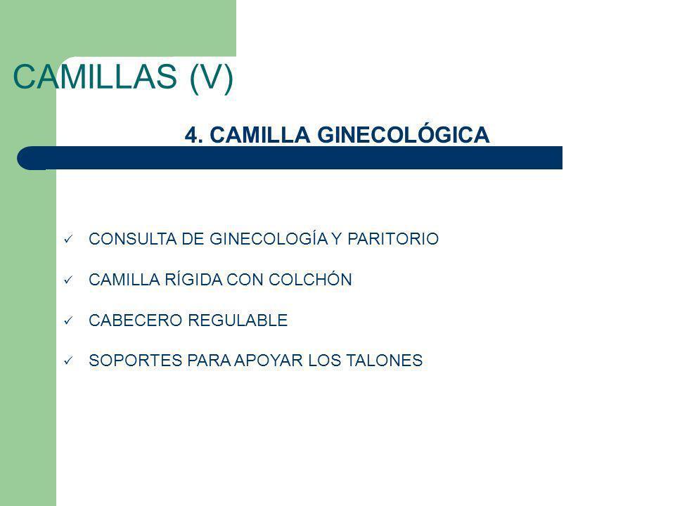 CAMILLAS (V) 4. CAMILLA GINECOLÓGICA