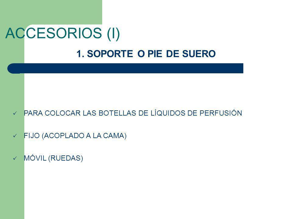 ACCESORIOS (I) 1. SOPORTE O PIE DE SUERO