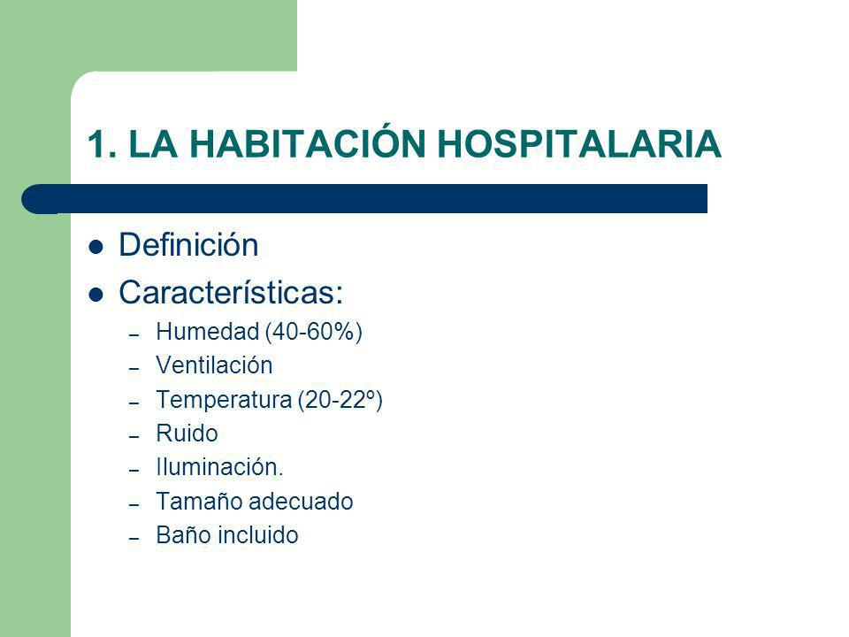 1. LA HABITACIÓN HOSPITALARIA