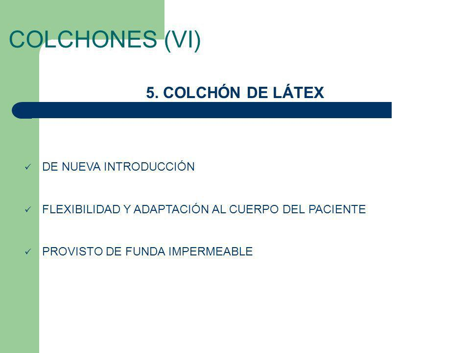 COLCHONES (VI) 5. COLCHÓN DE LÁTEX DE NUEVA INTRODUCCIÓN