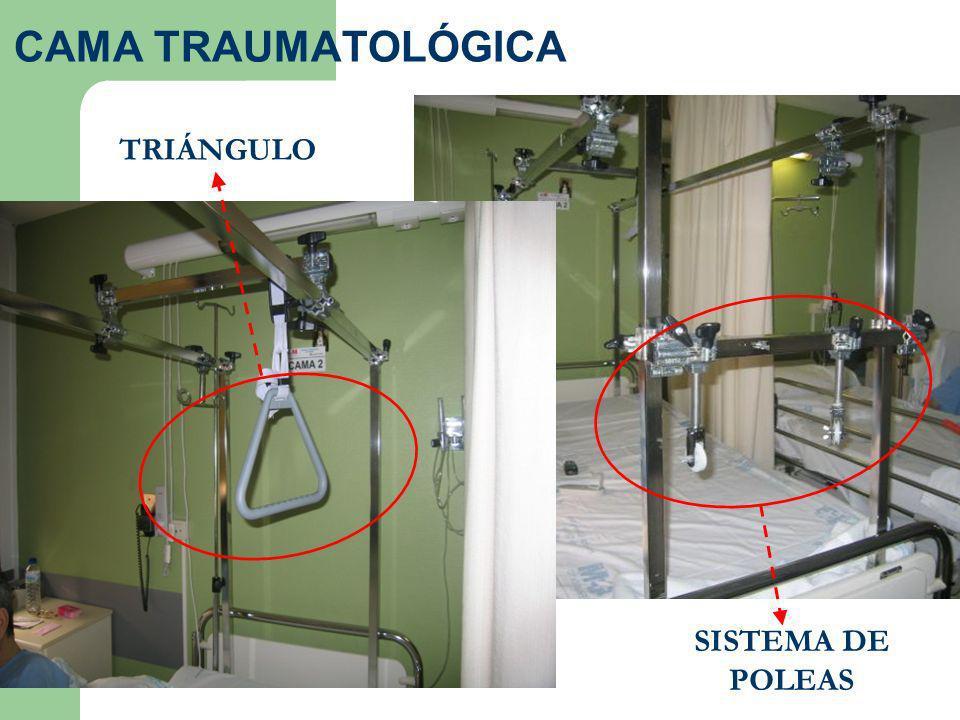 CAMA TRAUMATOLÓGICA TRIÁNGULO SISTEMA DE POLEAS