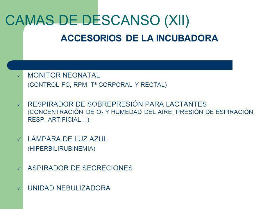 CAMAS DE DESCANSO (XII)