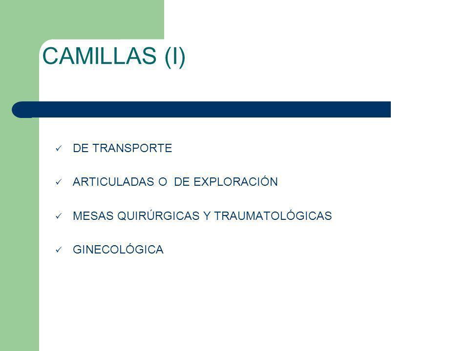 CAMILLAS (I) DE TRANSPORTE ARTICULADAS O DE EXPLORACIÓN