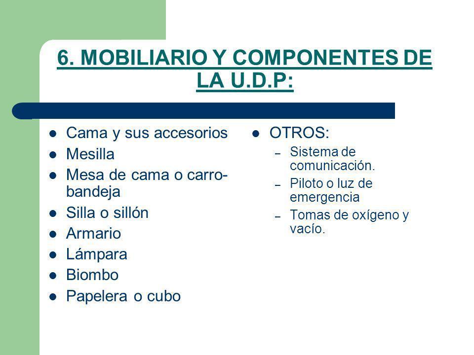 6. MOBILIARIO Y COMPONENTES DE LA U.D.P: