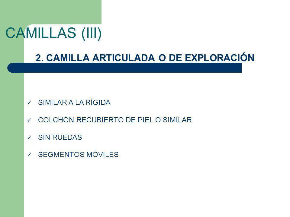 2. CAMILLA ARTICULADA O DE EXPLORACIÓN
