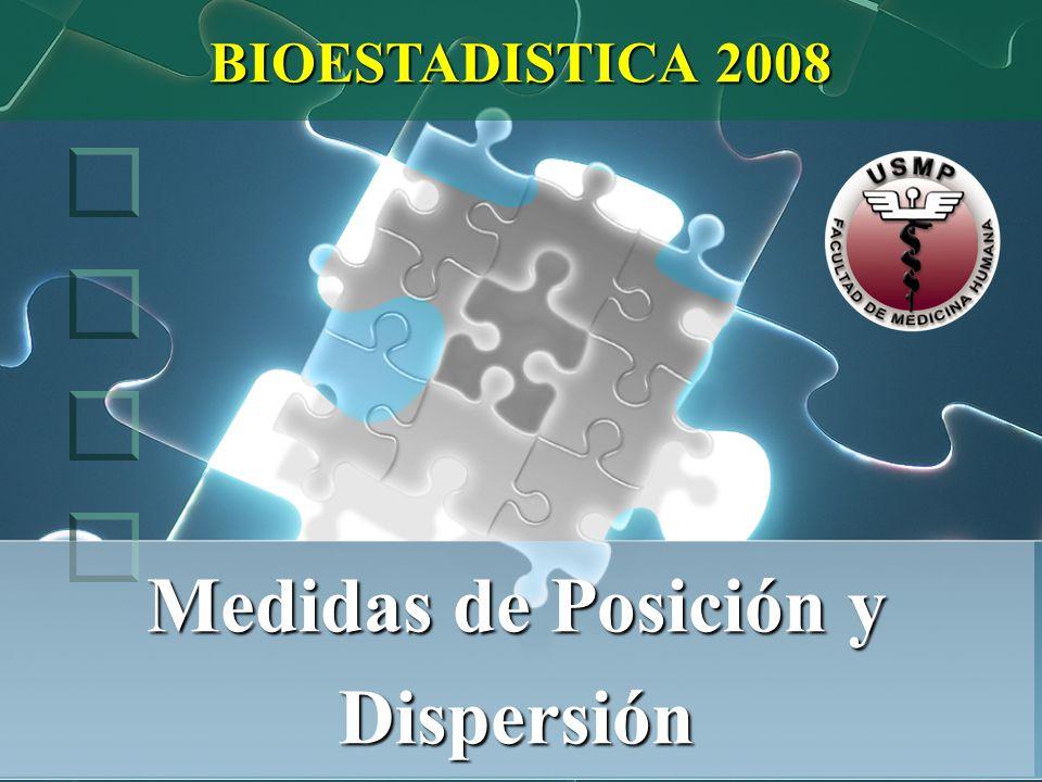 Medidas de Posición y Dispersión