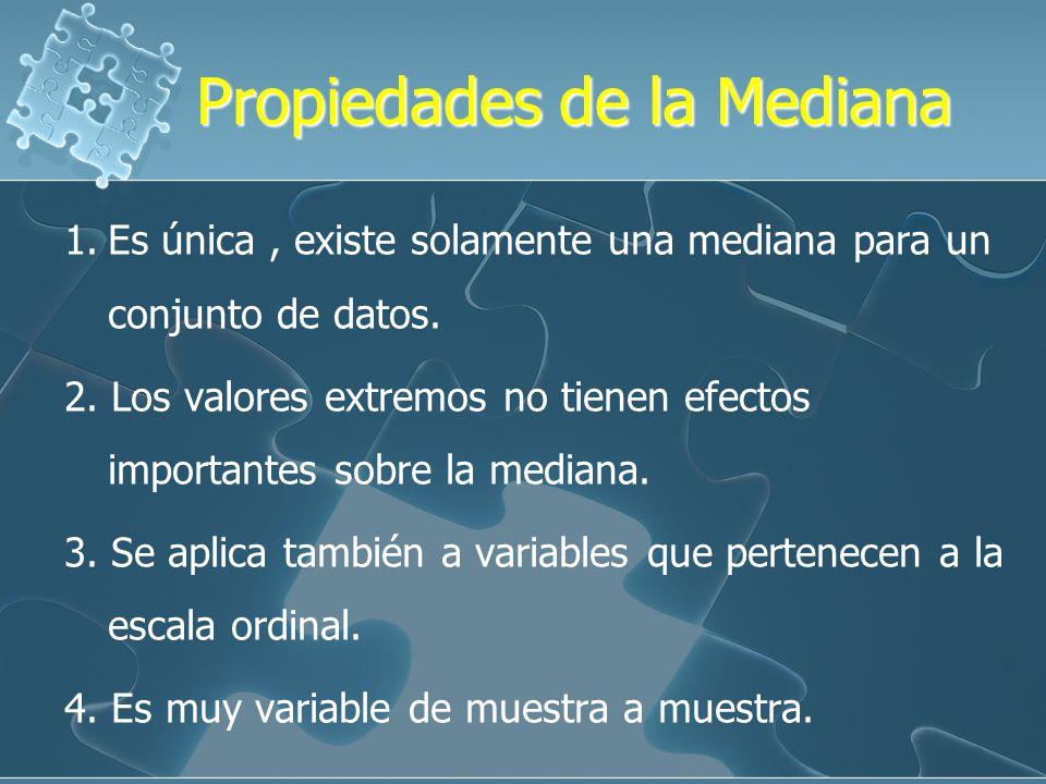Propiedades de la Mediana