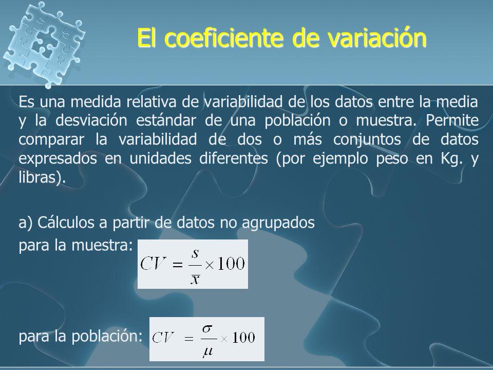 El coeficiente de variación