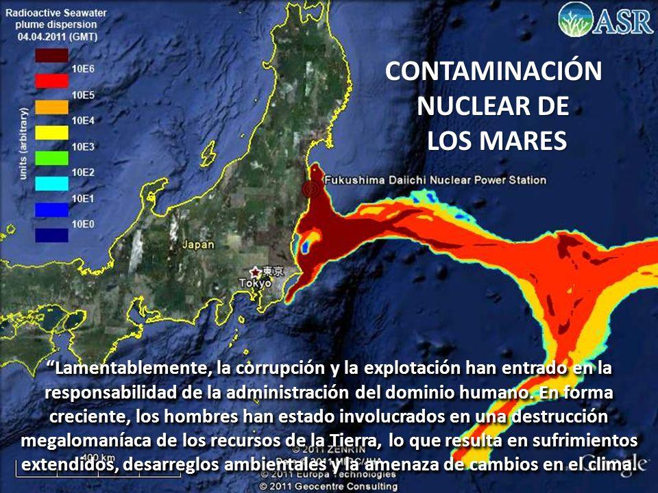 CONTAMINACIÓN NUCLEAR DE LOS MARES