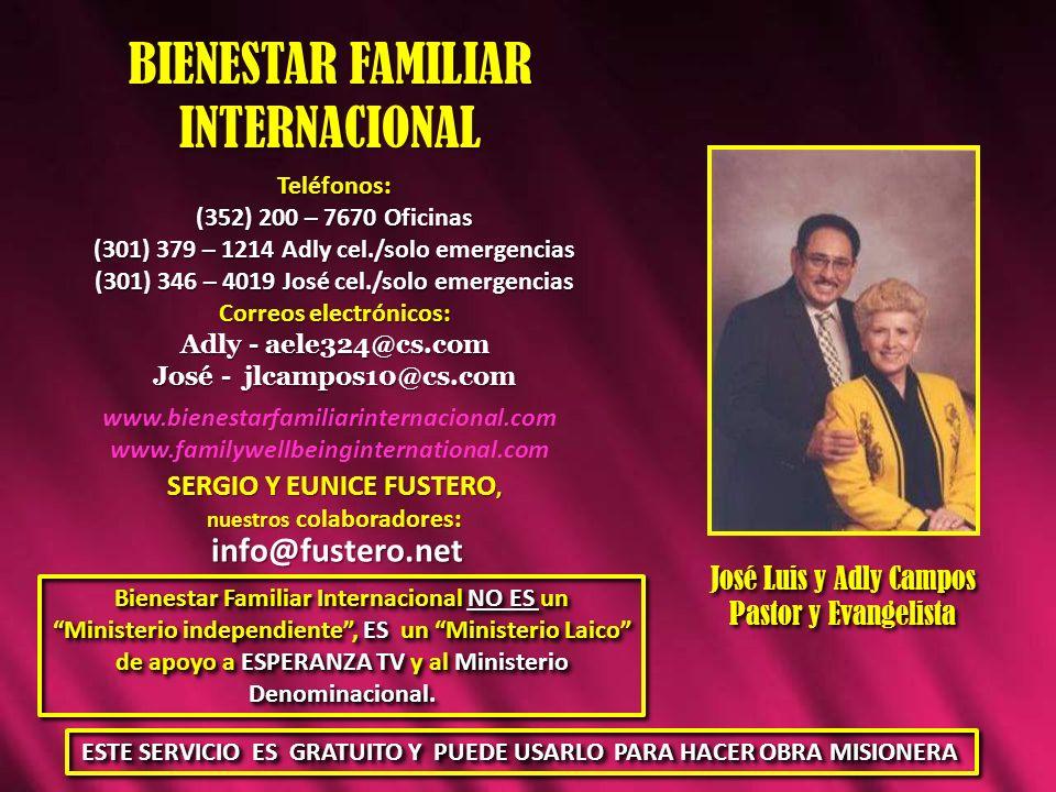 BIENESTAR FAMILIAR INTERNACIONAL info@fustero.net