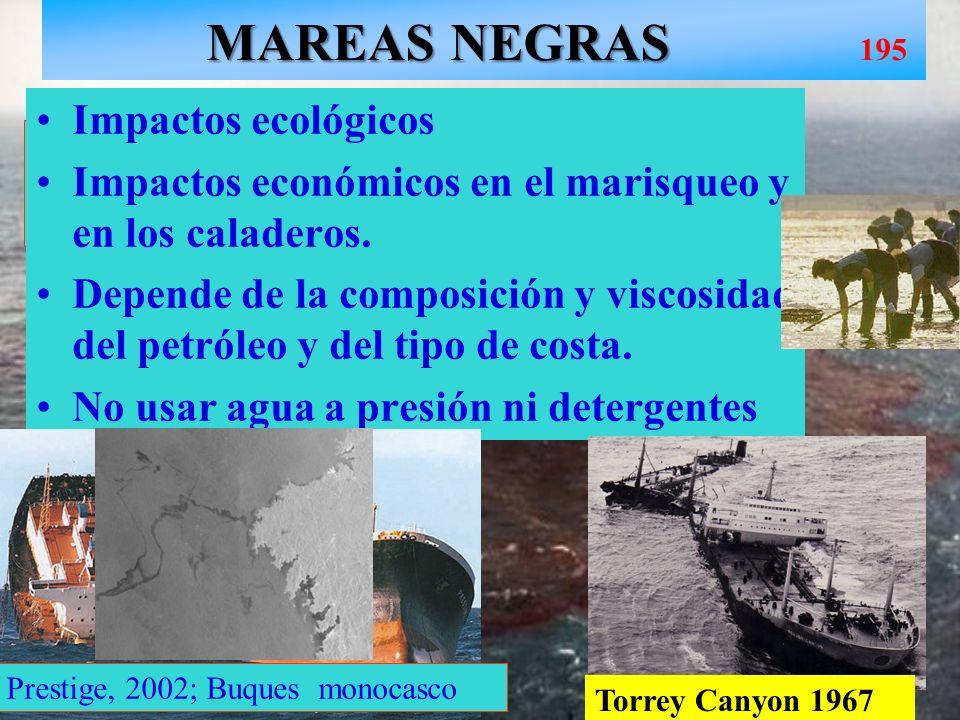 MAREAS NEGRAS 195 Impactos ecológicos