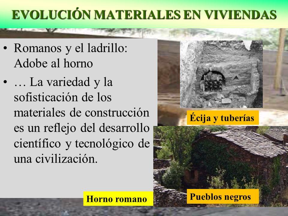 EVOLUCIÓN MATERIALES EN VIVIENDAS