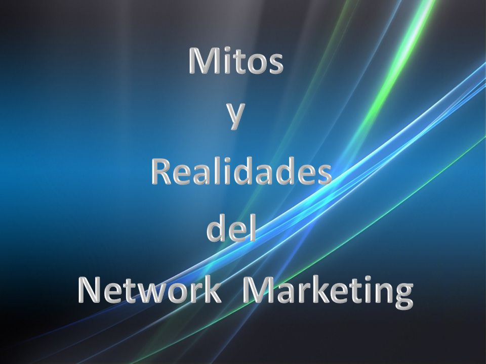 Mitos y Realidades del Network Marketing