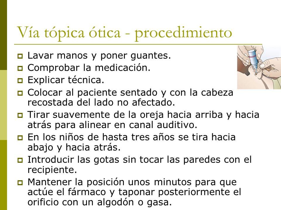 Vía tópica ótica - procedimiento