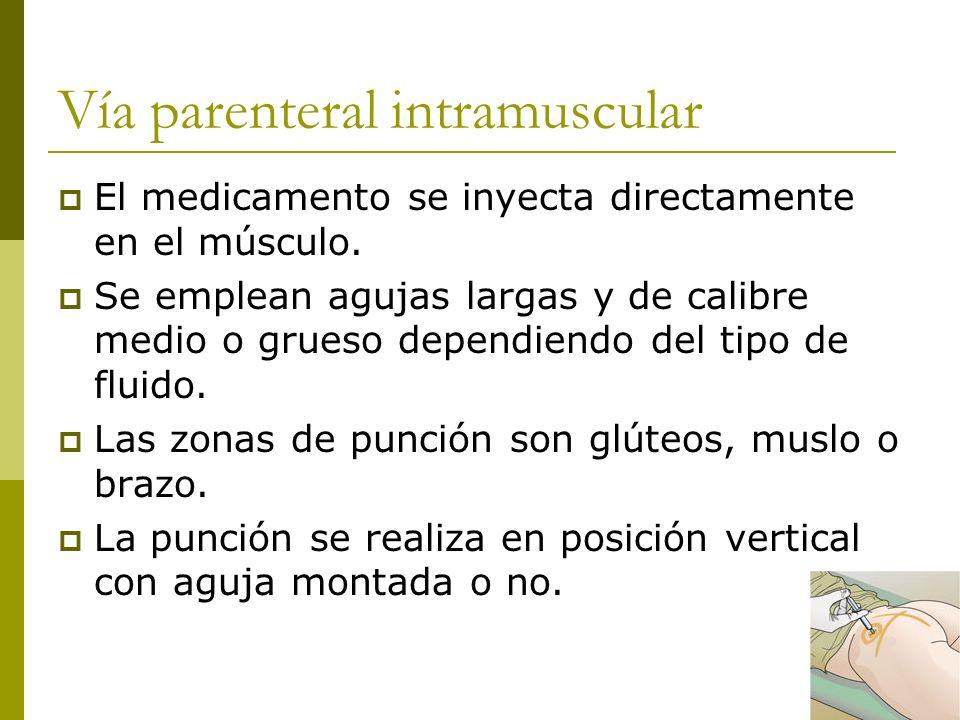 Vía parenteral intramuscular