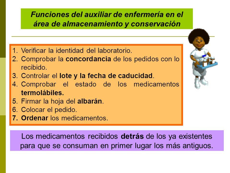 Funciones del auxiliar de enfermería en el área de almacenamiento y conservación