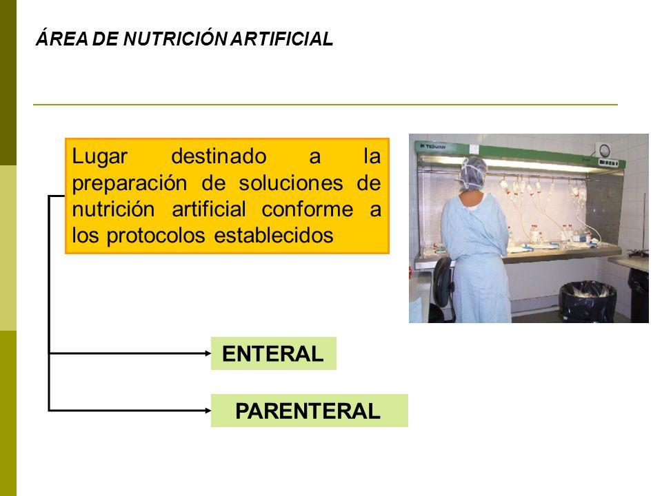 ÁREA DE NUTRICIÓN ARTIFICIAL