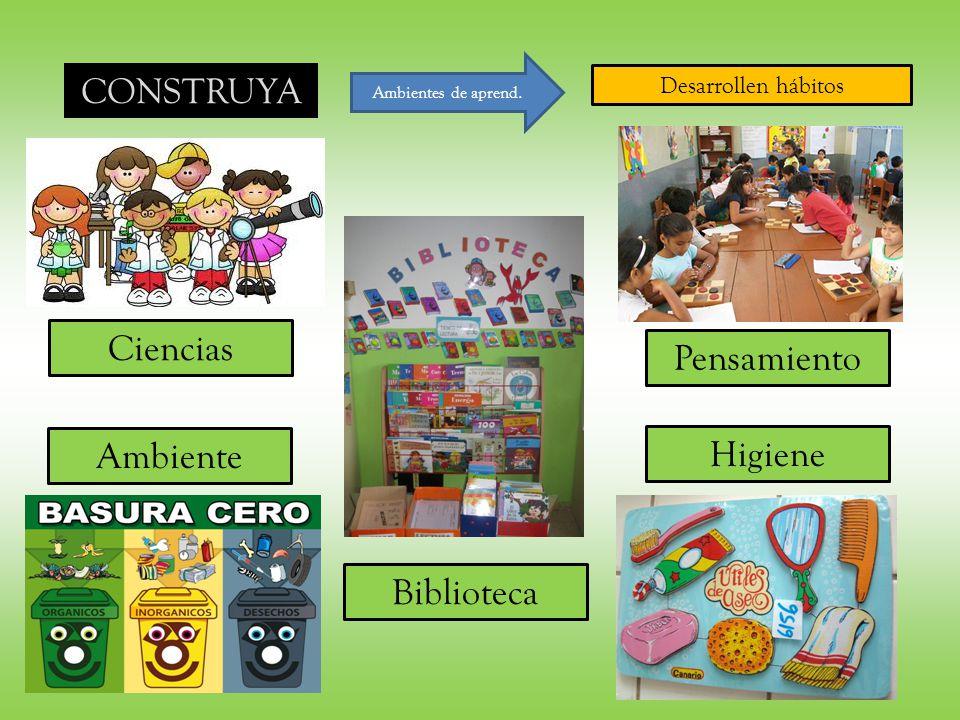 CONSTRUYA Laboratorios Ciencias Pensamiento Ambiente Higiene CCNN CCSS