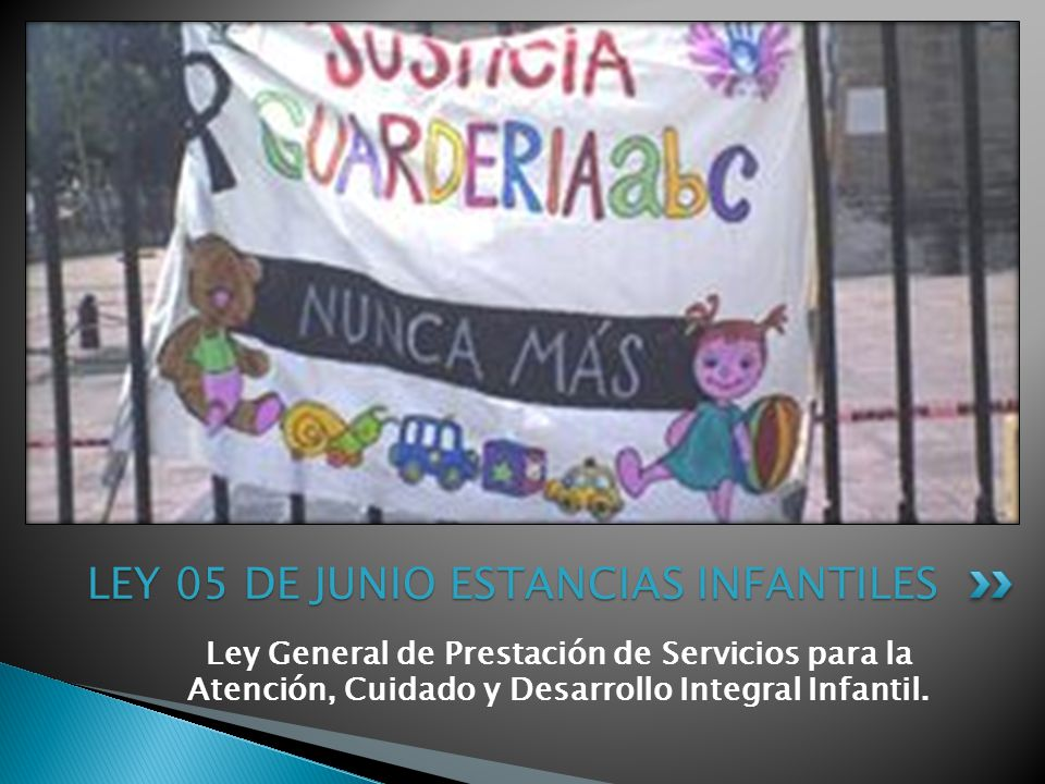 LEY 05 DE JUNIO ESTANCIAS INFANTILES