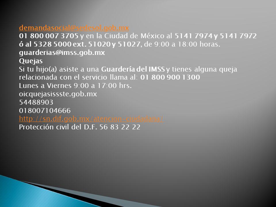 demandasocial@sedesol.gob.mx