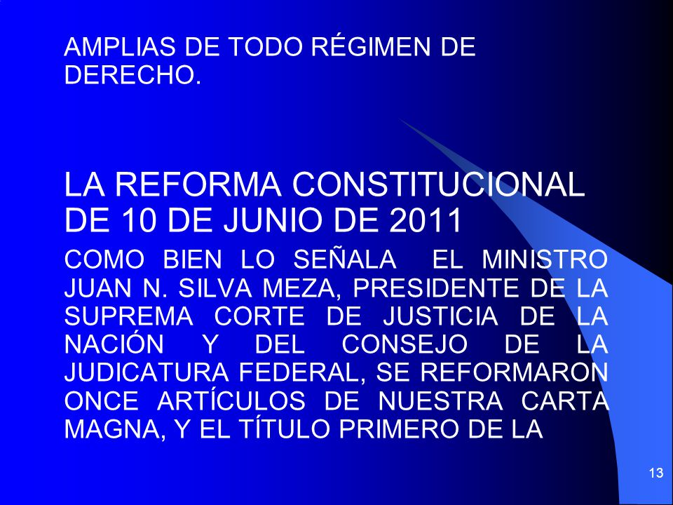 LA REFORMA CONSTITUCIONAL DE 10 DE JUNIO DE 2011