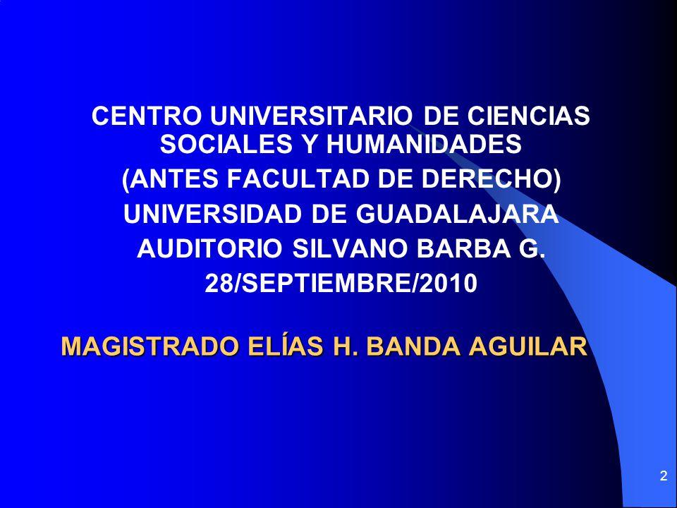 MAGISTRADO ELÍAS H. BANDA AGUILAR
