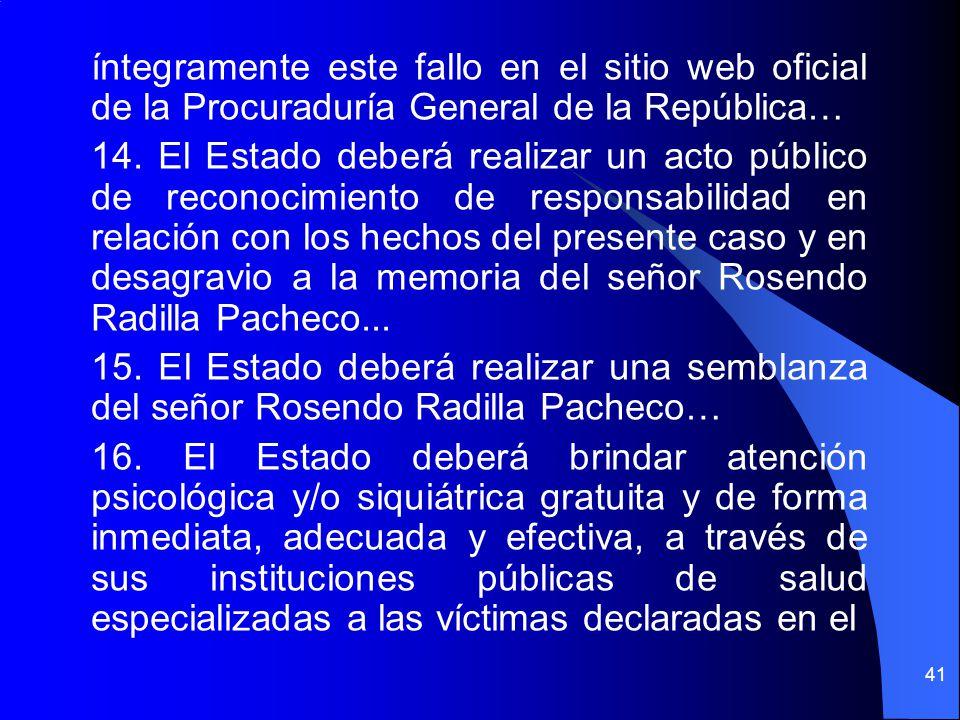 íntegramente este fallo en el sitio web oficial de la Procuraduría General de la República… 14.