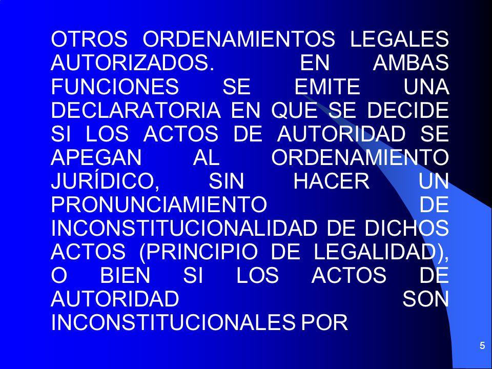 OTROS ORDENAMIENTOS LEGALES AUTORIZADOS