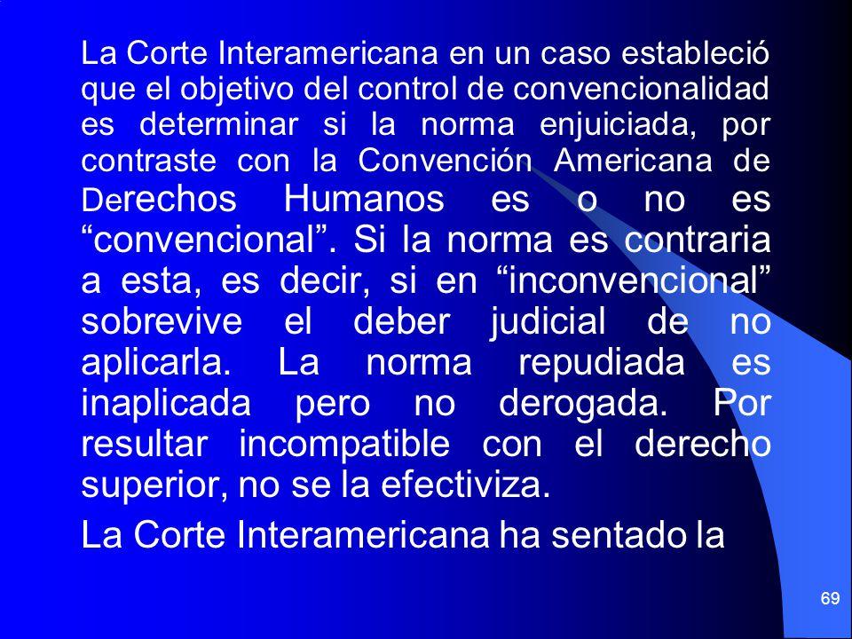 La Corte Interamericana ha sentado la