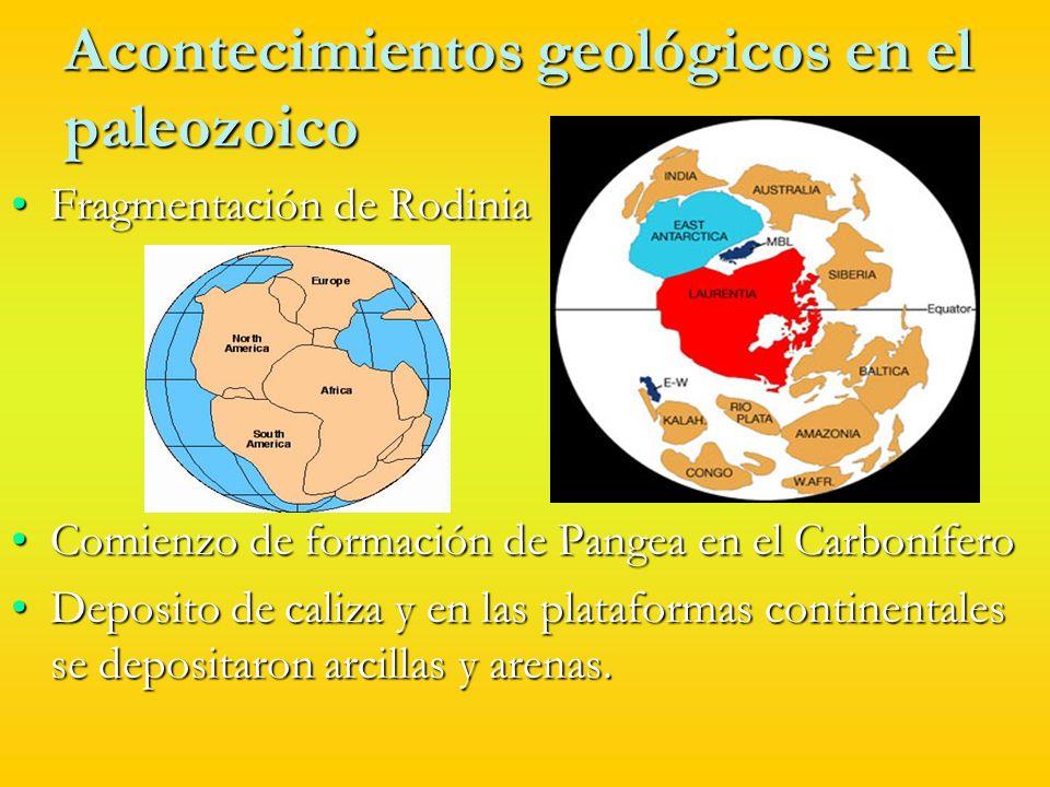Acontecimientos geológicos en el paleozoico