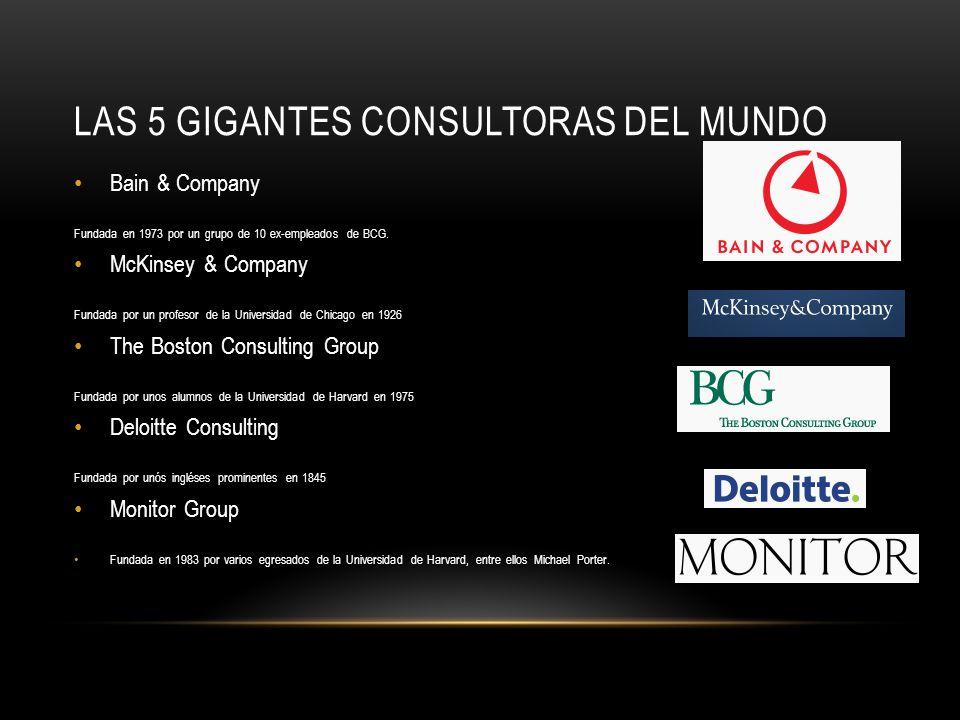 Las 5 Gigantes consultoras del mundo