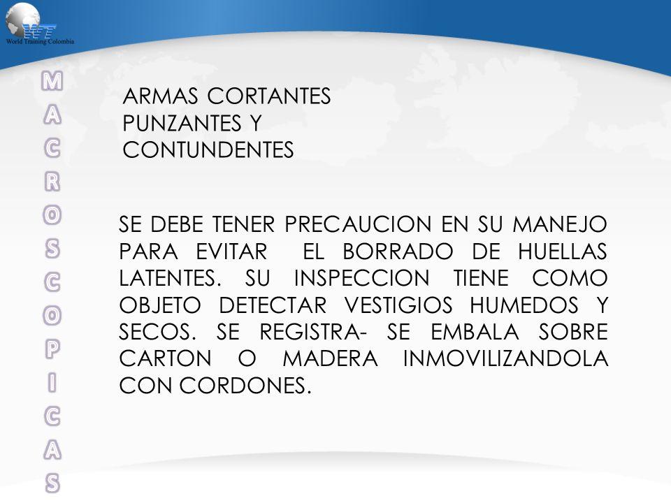 M A C R O S P I ARMAS CORTANTES PUNZANTES Y CONTUNDENTES