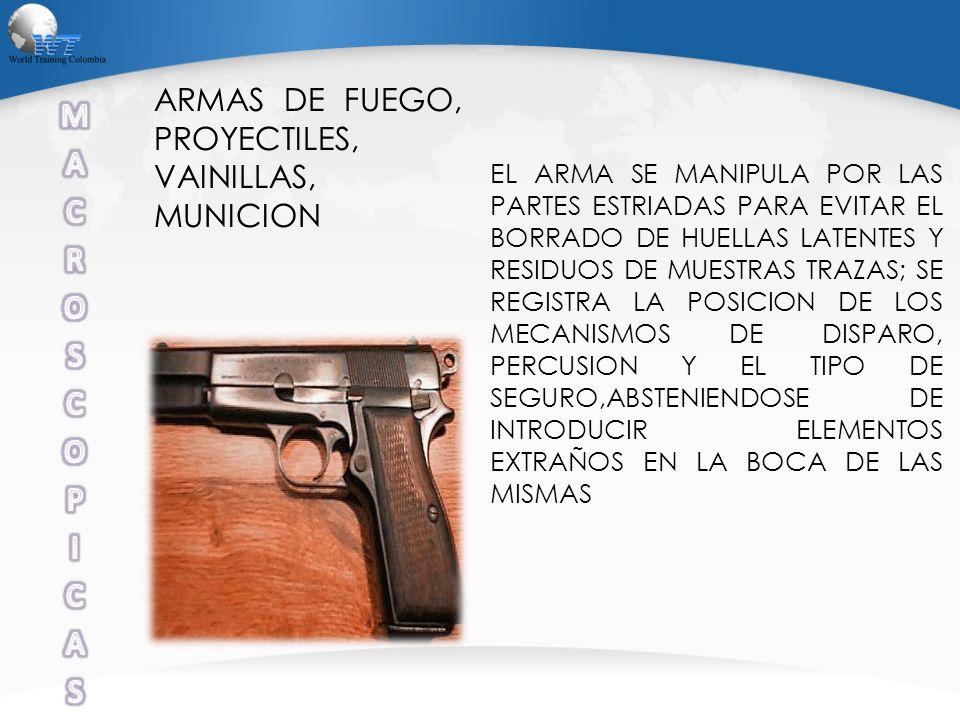 M A C R O S P I ARMAS DE FUEGO, PROYECTILES, VAINILLAS, MUNICION