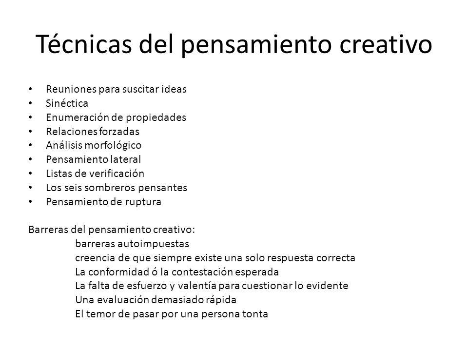 Técnicas del pensamiento creativo