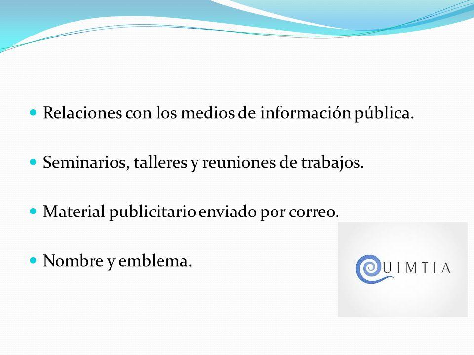 Relaciones con los medios de información pública.