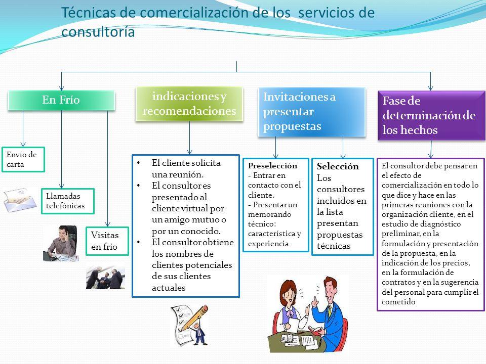 Técnicas de comercialización de los servicios de consultoría