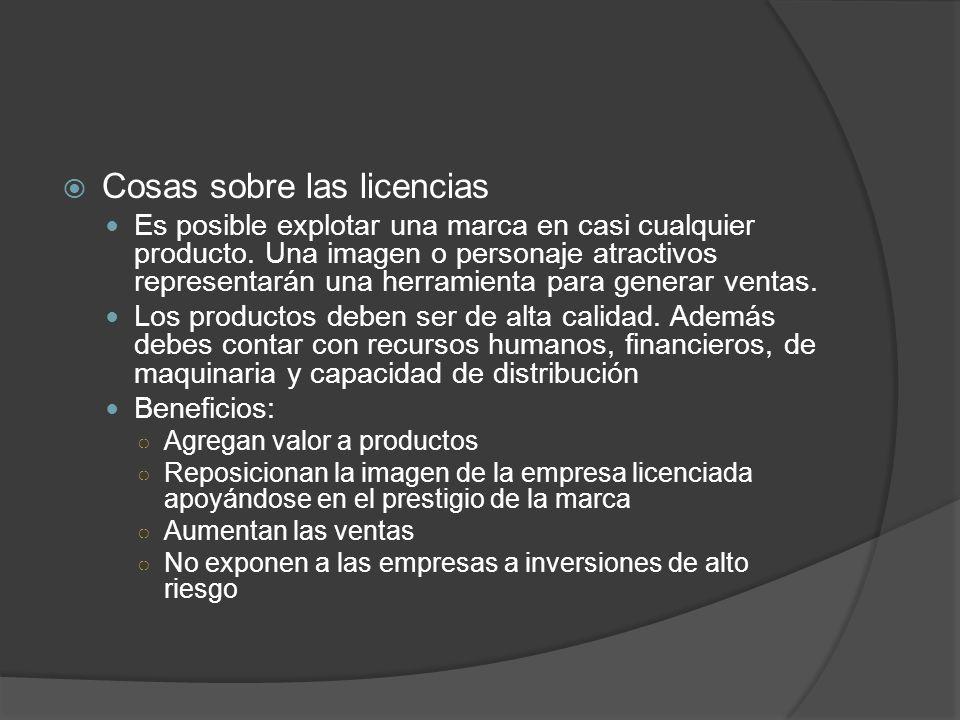 Cosas sobre las licencias