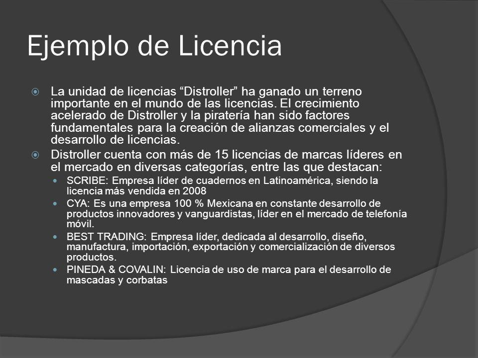 Ejemplo de Licencia