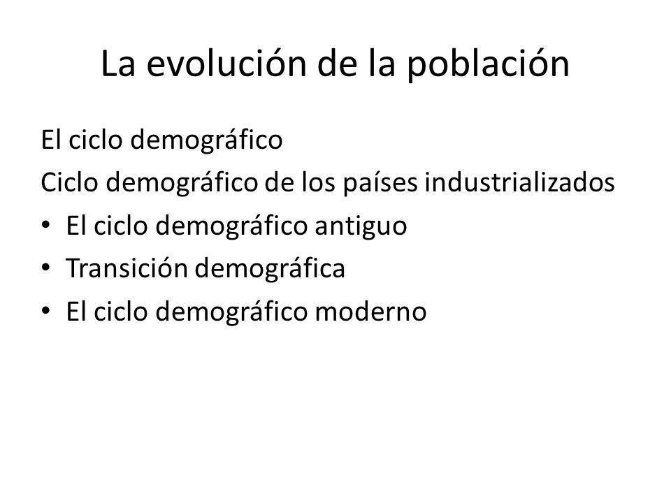 La evolución de la población