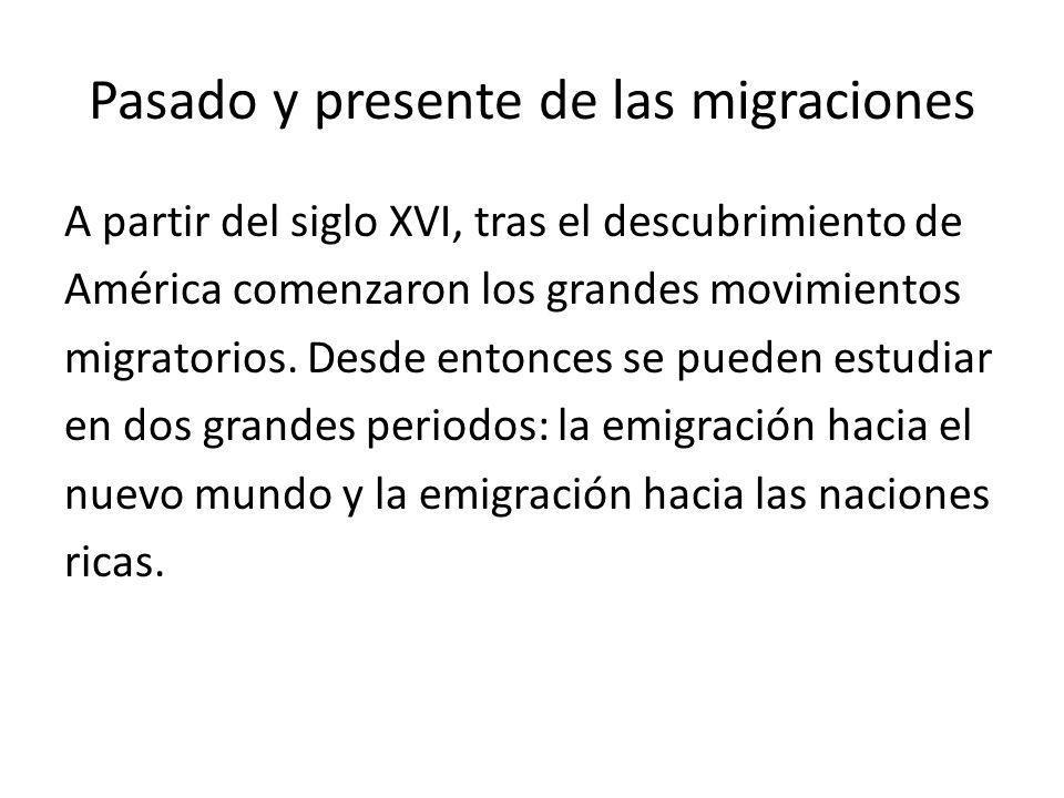 Pasado y presente de las migraciones