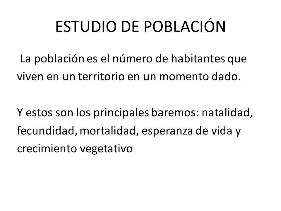 ESTUDIO DE POBLACIÓN