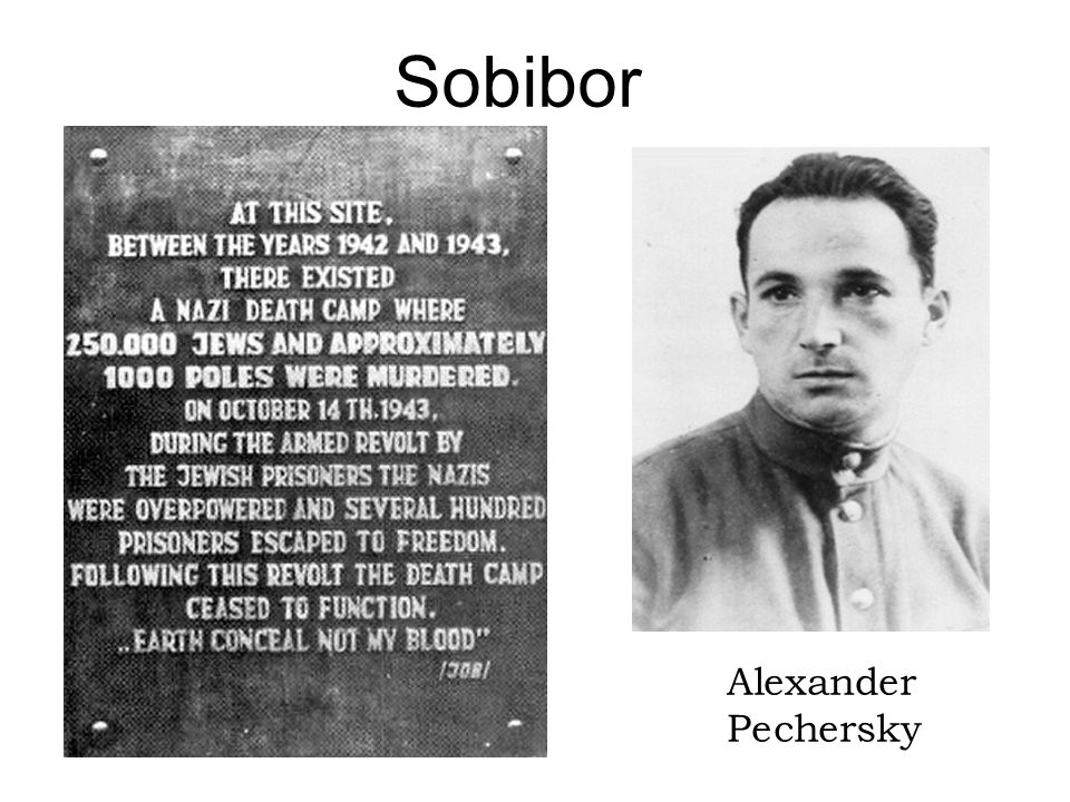 Sobibor Alexander Pechersky Instructor Note: