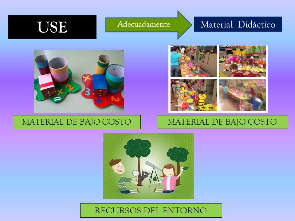 USE Material Didáctico RECURSOS DEL ENTORNO MATERIAL DE BAJO COSTO