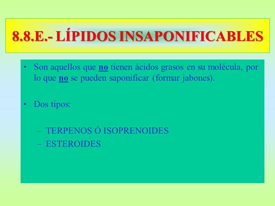 8.8.E.- LÍPIDOS INSAPONIFICABLES