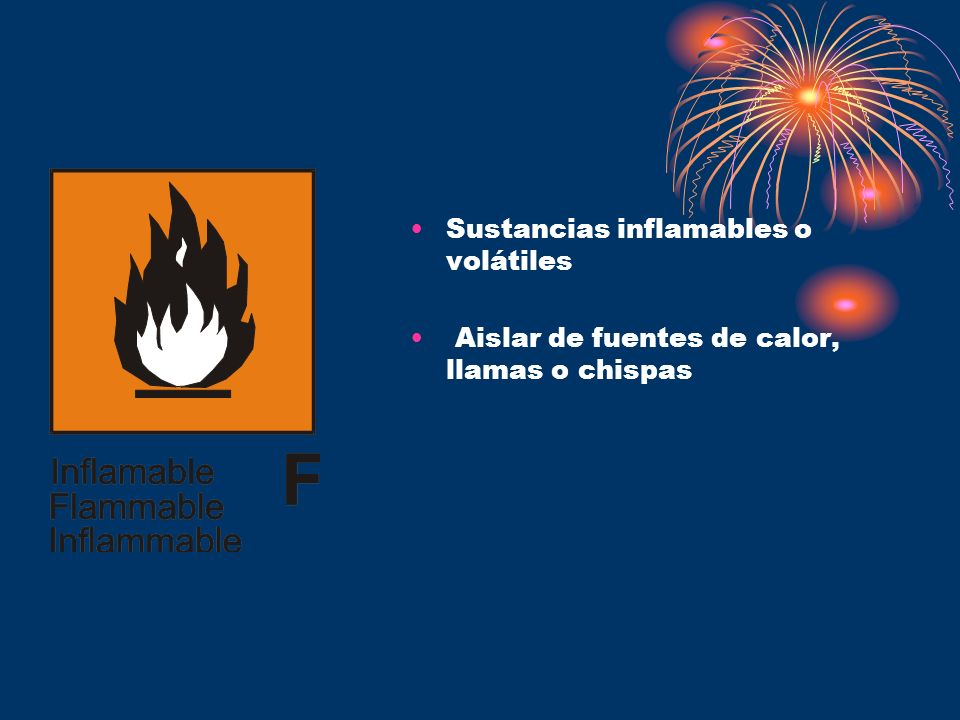 Sustancias inflamables o volátiles