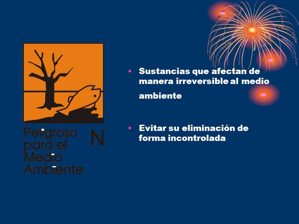 Sustancias que afectan de manera irreversible al medio ambiente