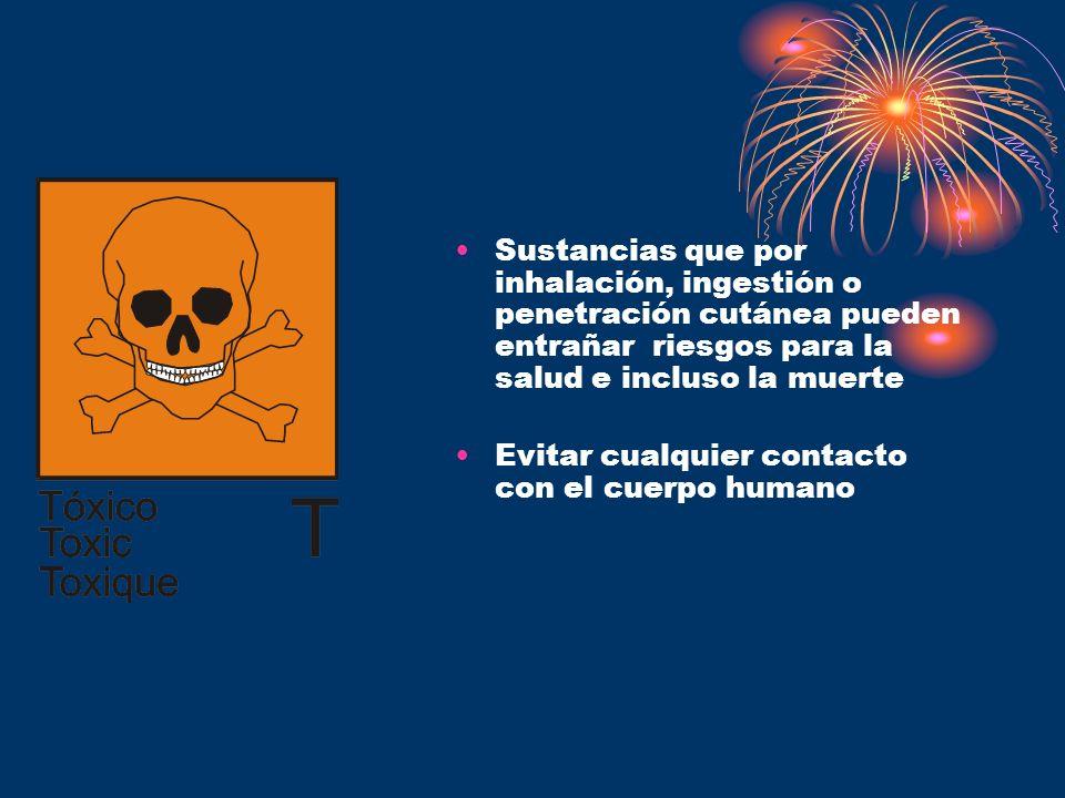 Sustancias que por inhalación, ingestión o penetración cutánea pueden entrañar riesgos para la salud e incluso la muerte