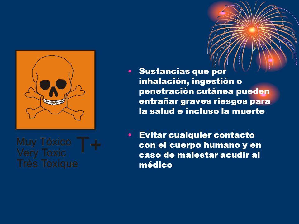 Sustancias que por inhalación, ingestión o penetración cutánea pueden entrañar graves riesgos para la salud e incluso la muerte