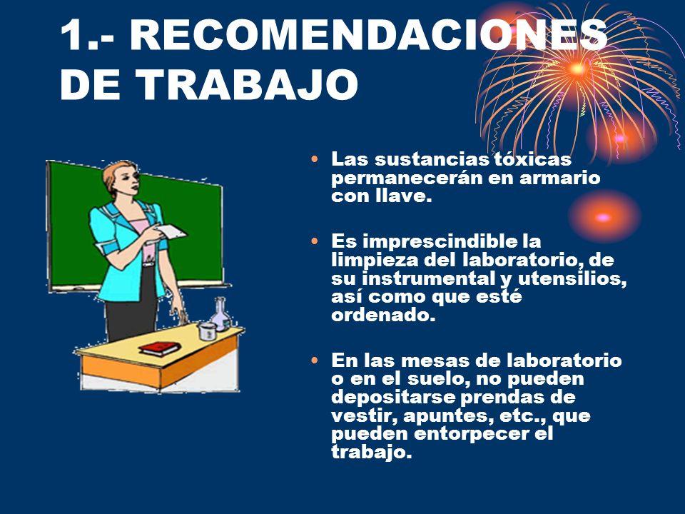 1.- RECOMENDACIONES DE TRABAJO